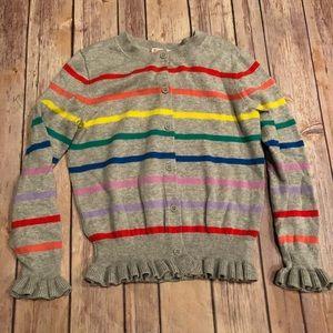Crewcuts rainbow cardigan